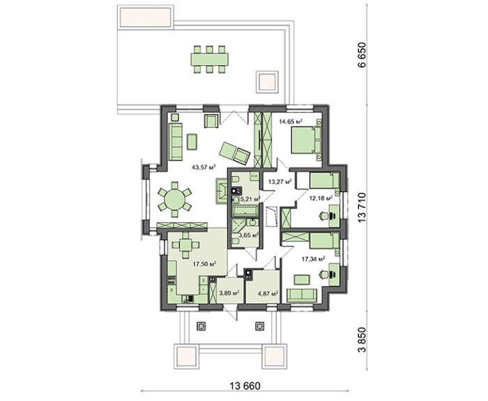 Проект дома 4m785 план