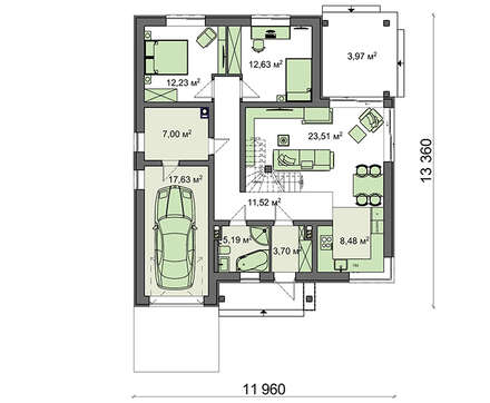 Проект дома 4m783 план