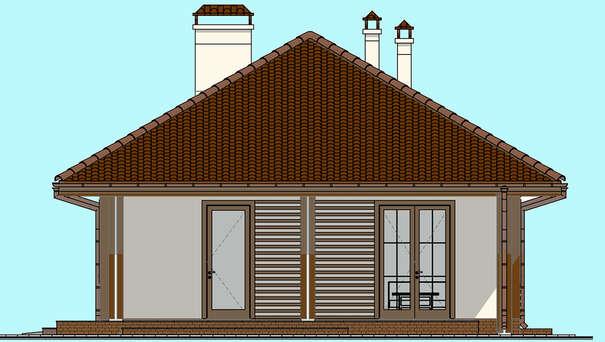 Проект дома 4m1454 фасад