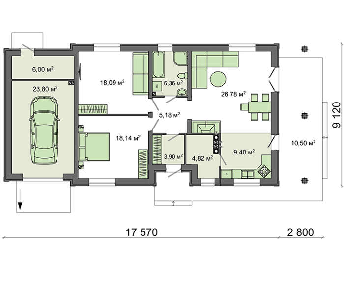 Проект дома 4m1454 план