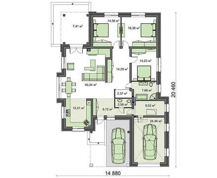 Проект дома 4m1456 план