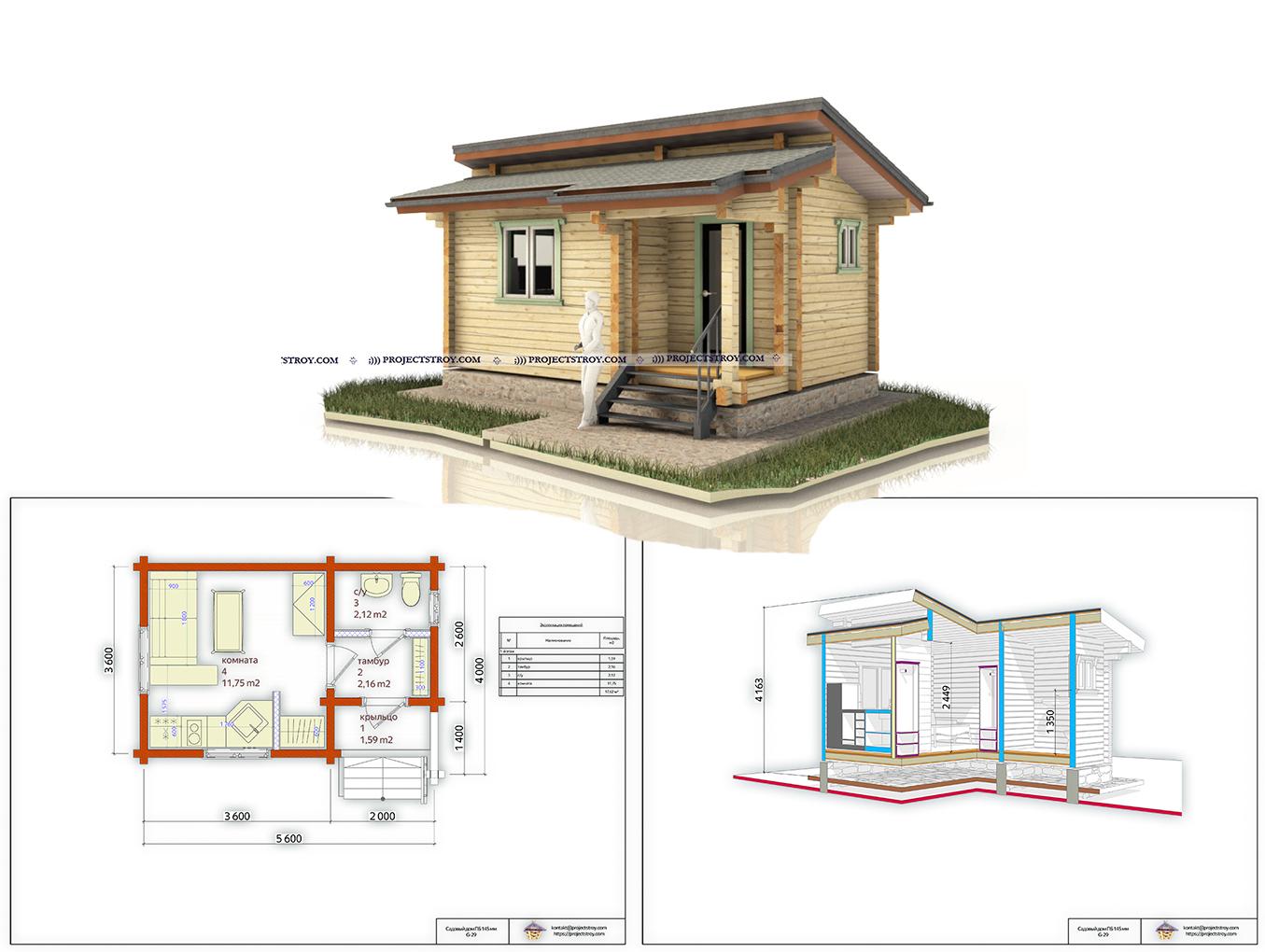 Небольшой дом для первой постройки фасад