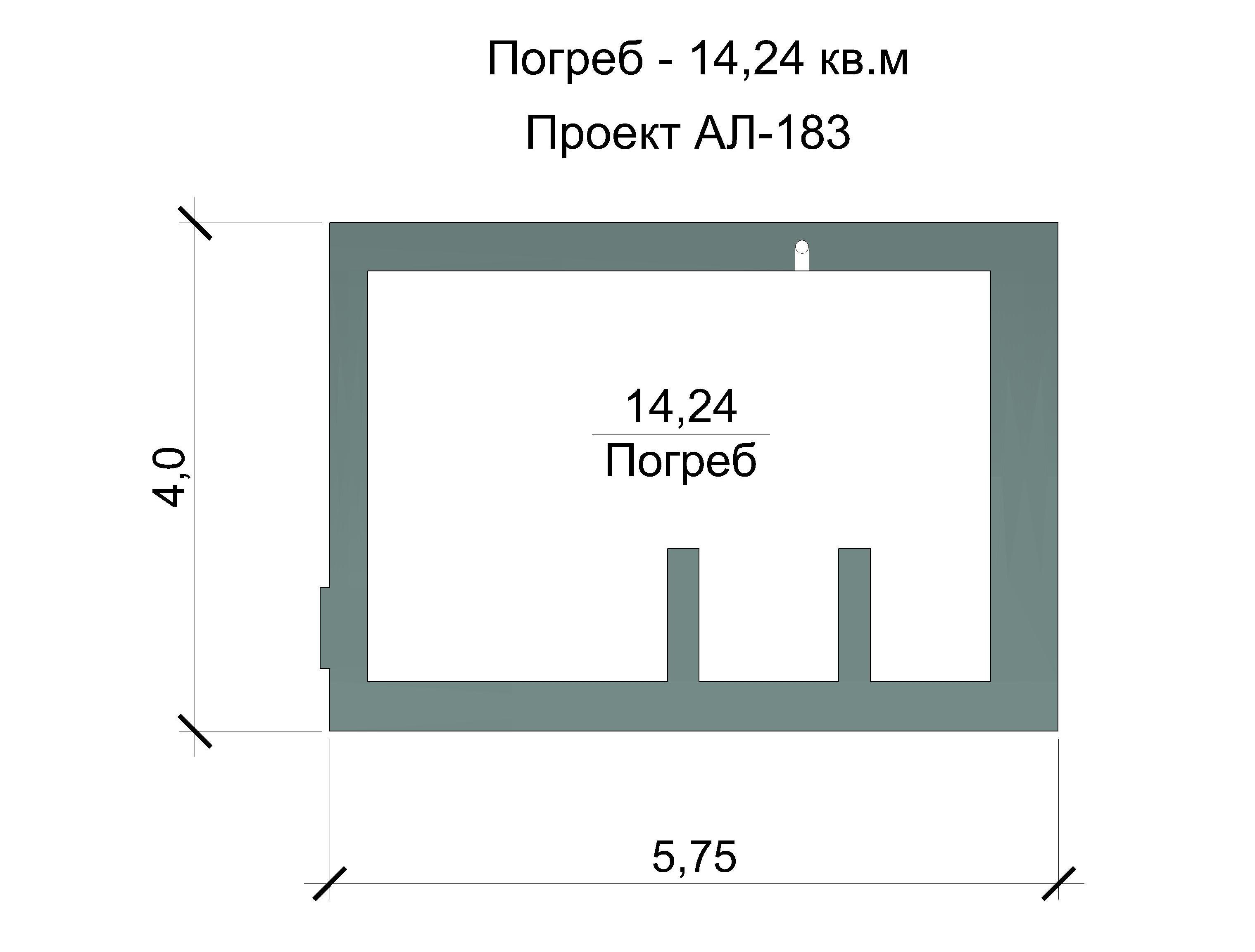 Готовый проект дома 109 кв.м // Артикул АЛ-183 план