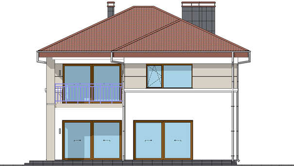 Проект дома 4m1480 фасад