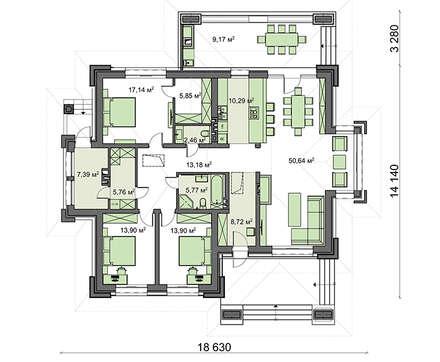 Проект дома 4m1474 план