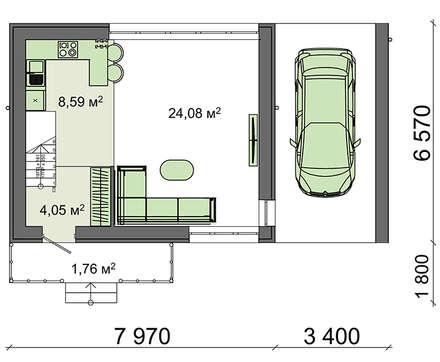 Проект дома 4m848 план