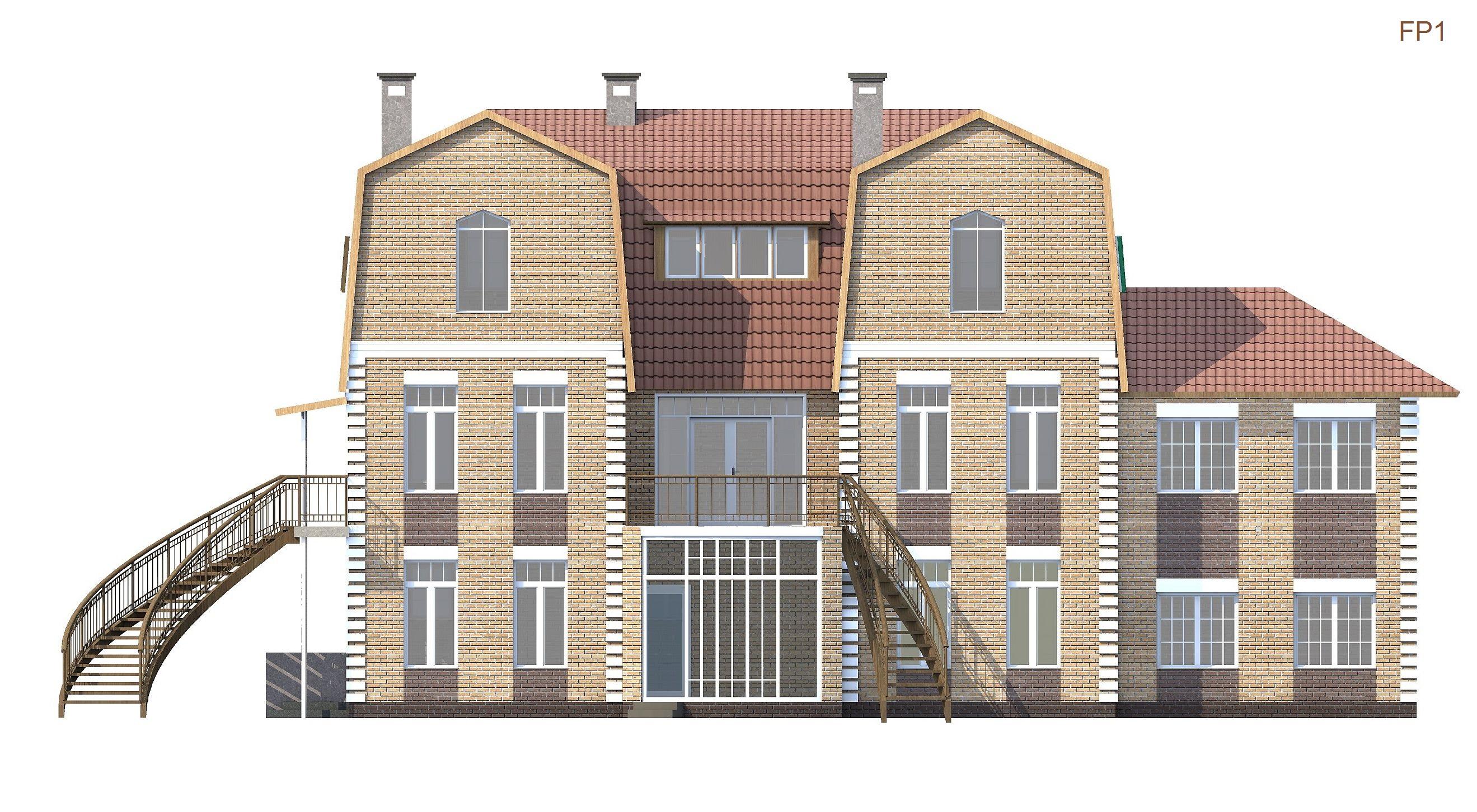 Проект особняка 306 кв.м // Артикул FP1 фасад