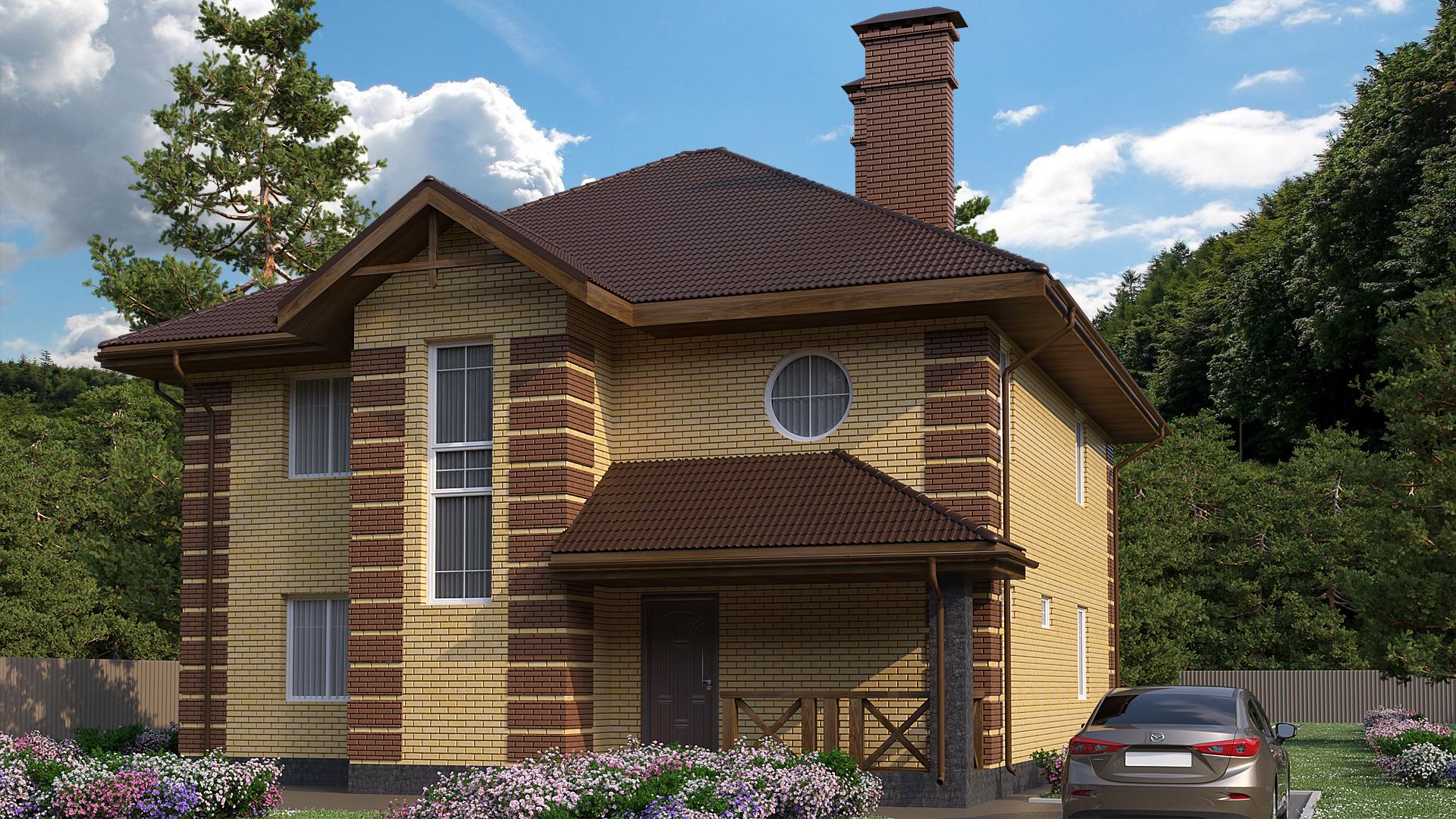 Готовый проект дома 200 кв.м // Артикул АСА-195 фасад