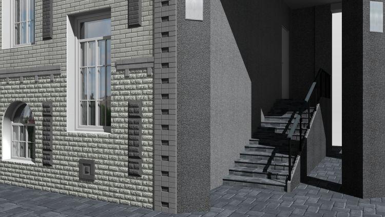 Готовый проект общественного здания 567 кв.м  фасад