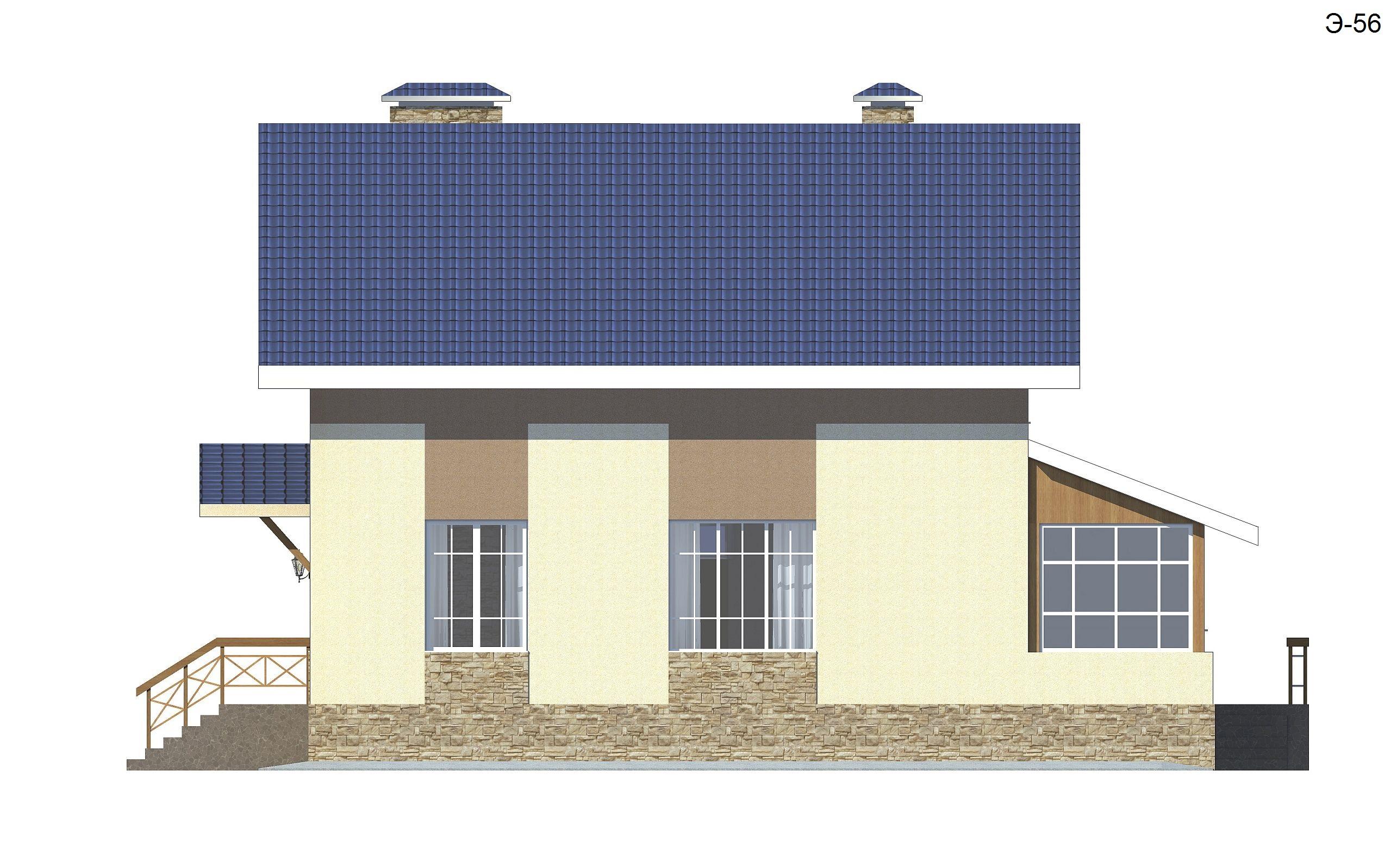 Готовый проект коттеджа 125 м2 / Артикул ЭР-56 фасад
