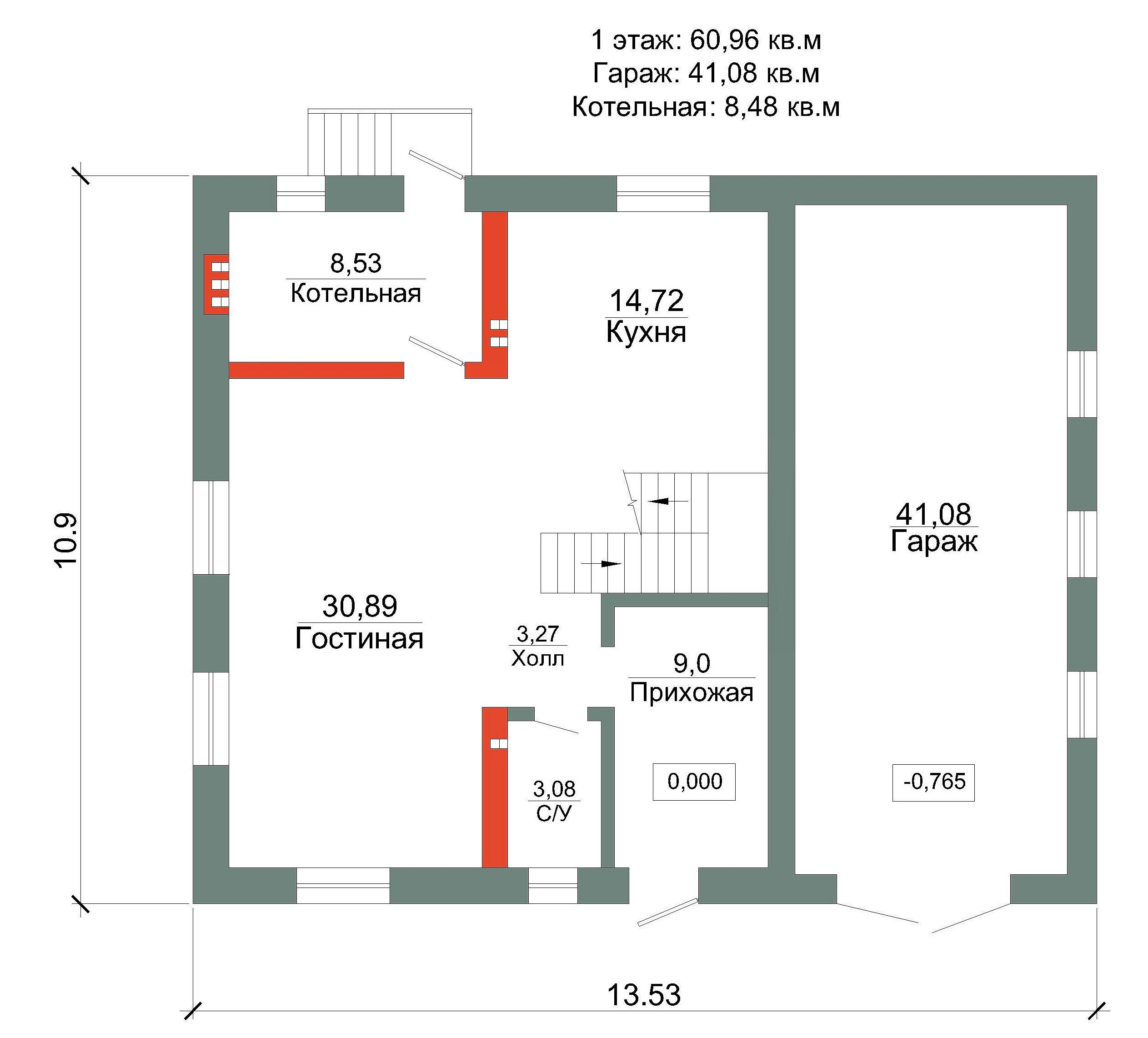 Готовый проект коттеджа 120 м2 /Артикул AN.zr-47.2 план