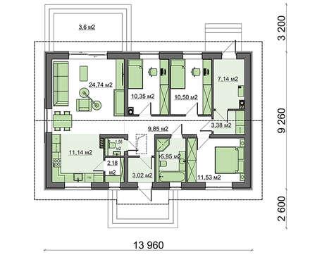 Проект дома 4m254 план
