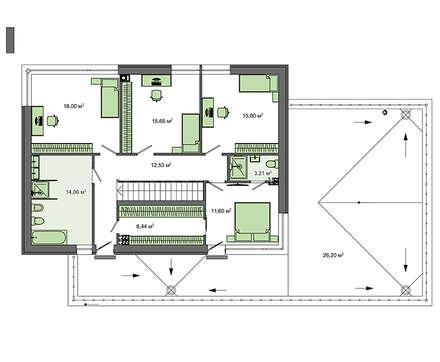 Проект дома 4m709 план