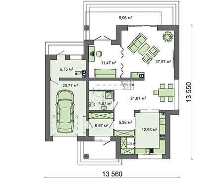 Проект дома 4m633 план