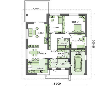 Проект дома 4m580 план