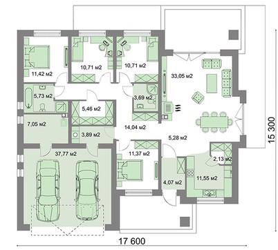 Проект дома 4m899 план
