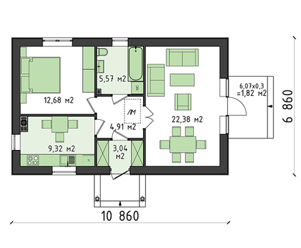 Проект дома 4m3717 план