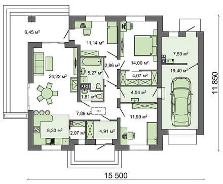 Проект дома 4m599 план