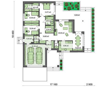 Проект дома 4m7115 план