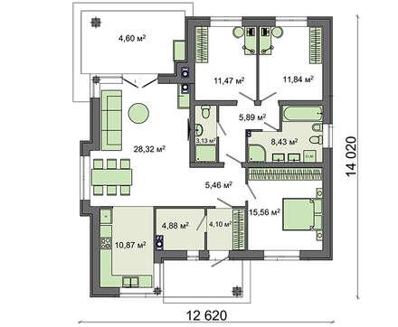 Проект дома 4m429 план