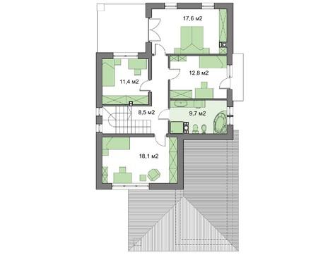 Проект дома 4m510 план