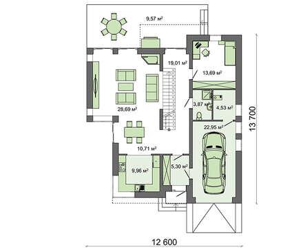 Проект дома 4m629 план