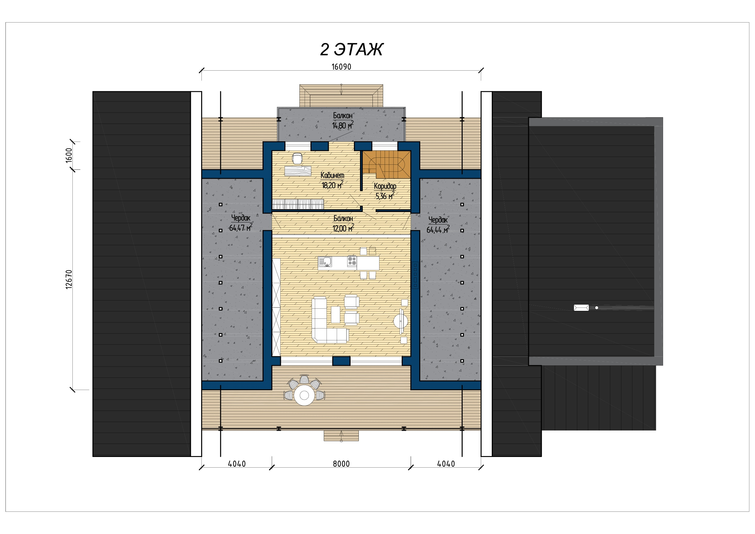 Проект загородного дома А 700 план