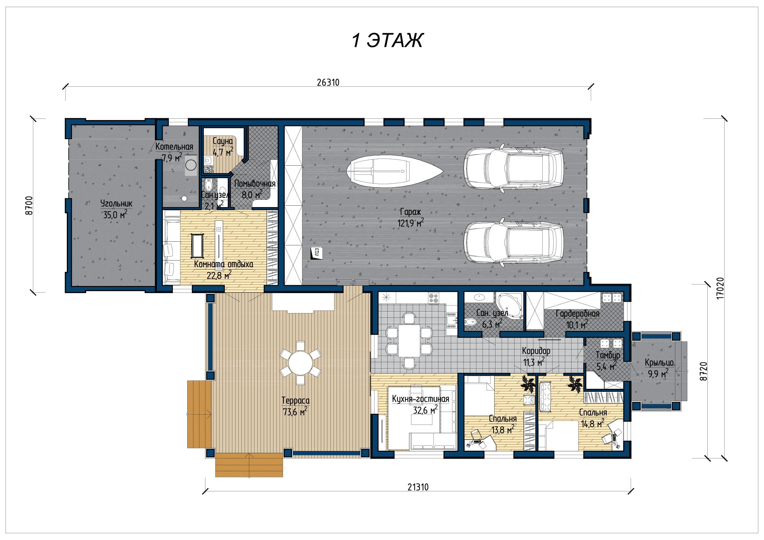 Проект дома А 380 план