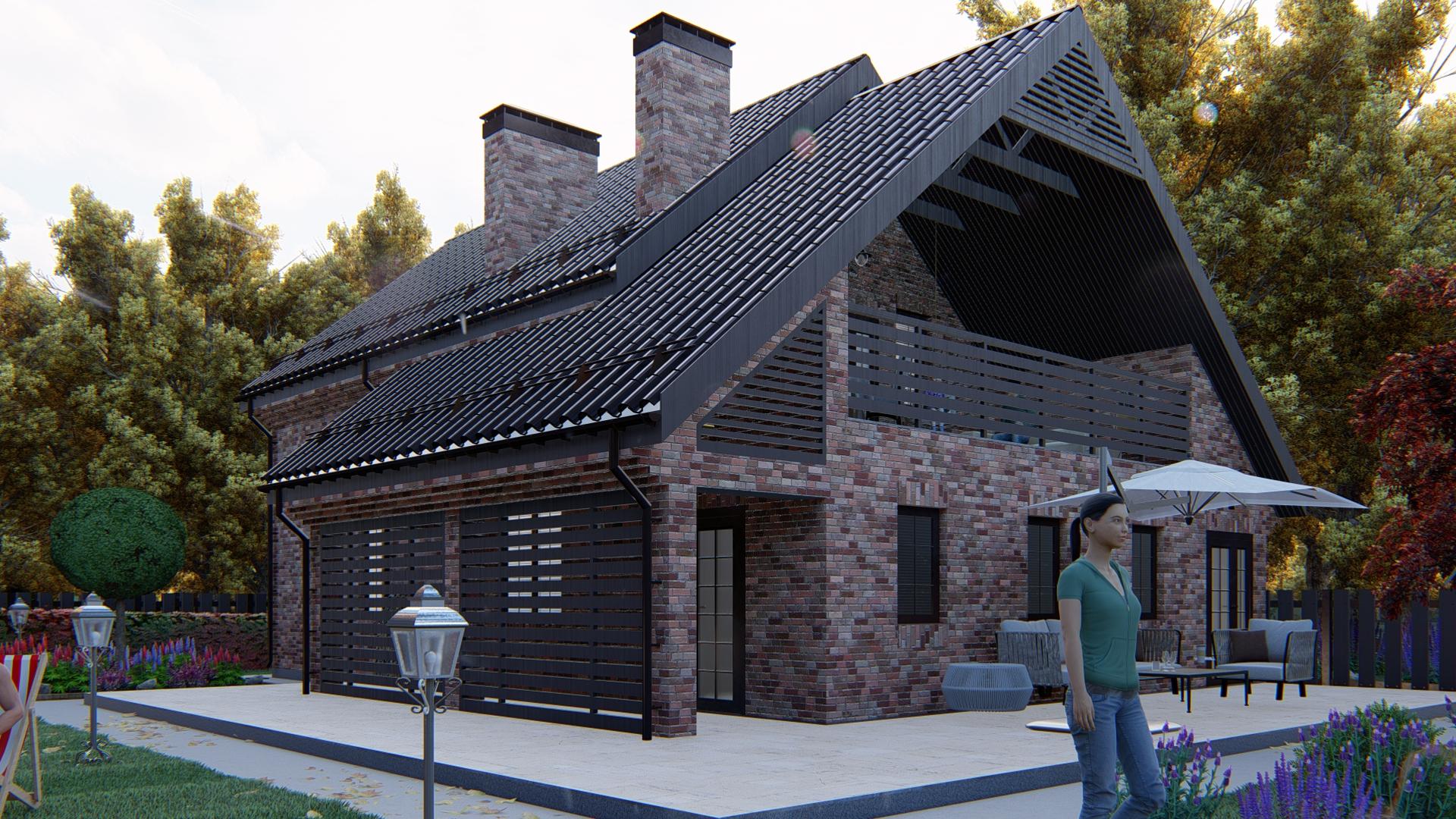 Двухэтажный проект загородного дома А 234 фасад