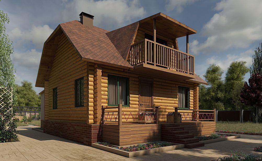 Готовый проект дома 80 кв.м // Артикул ОС-43 фасад