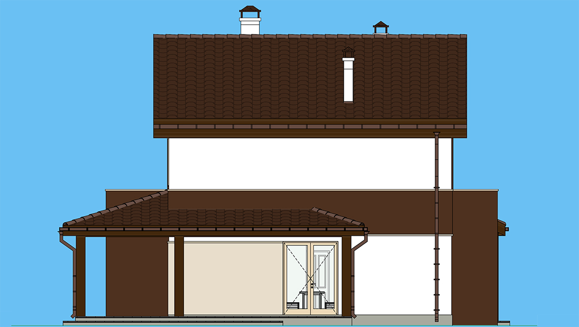 Проект дома 4m1494 фасад