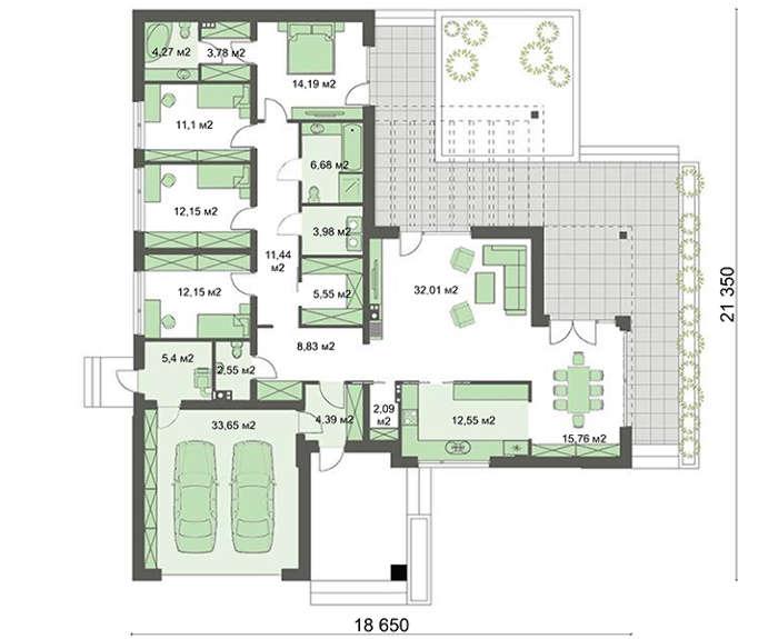 Проект дома 4m7129 план