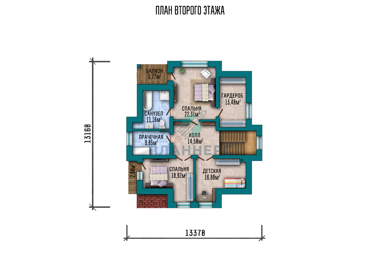 Проект Планнерс 019-233-1М  план