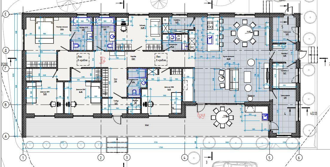 Проект коттеджа 235 кв.м // Артикул ЧЕ-211 план