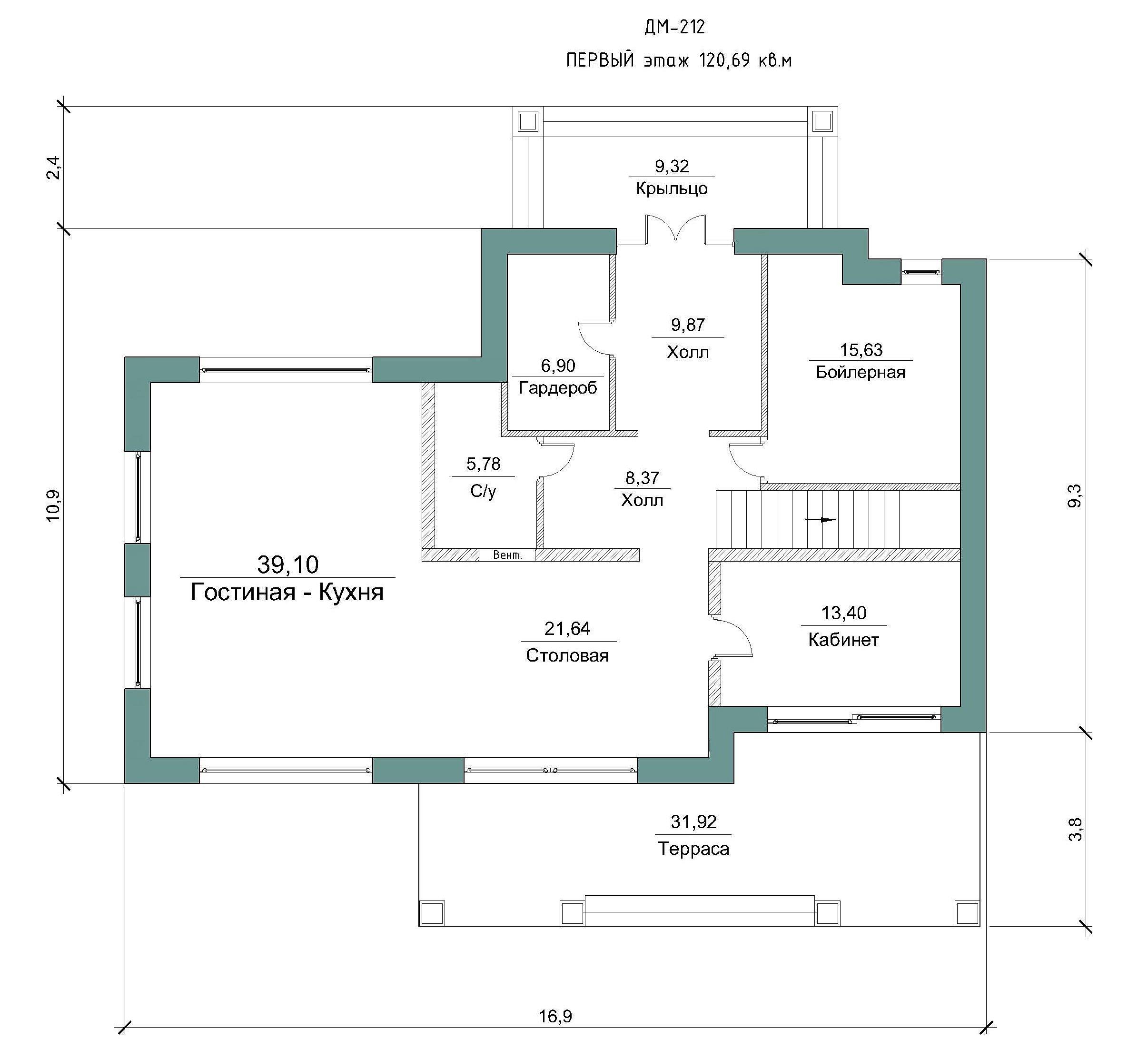Проект коттеджа 310 м2 / Артикул ДМ-212 план