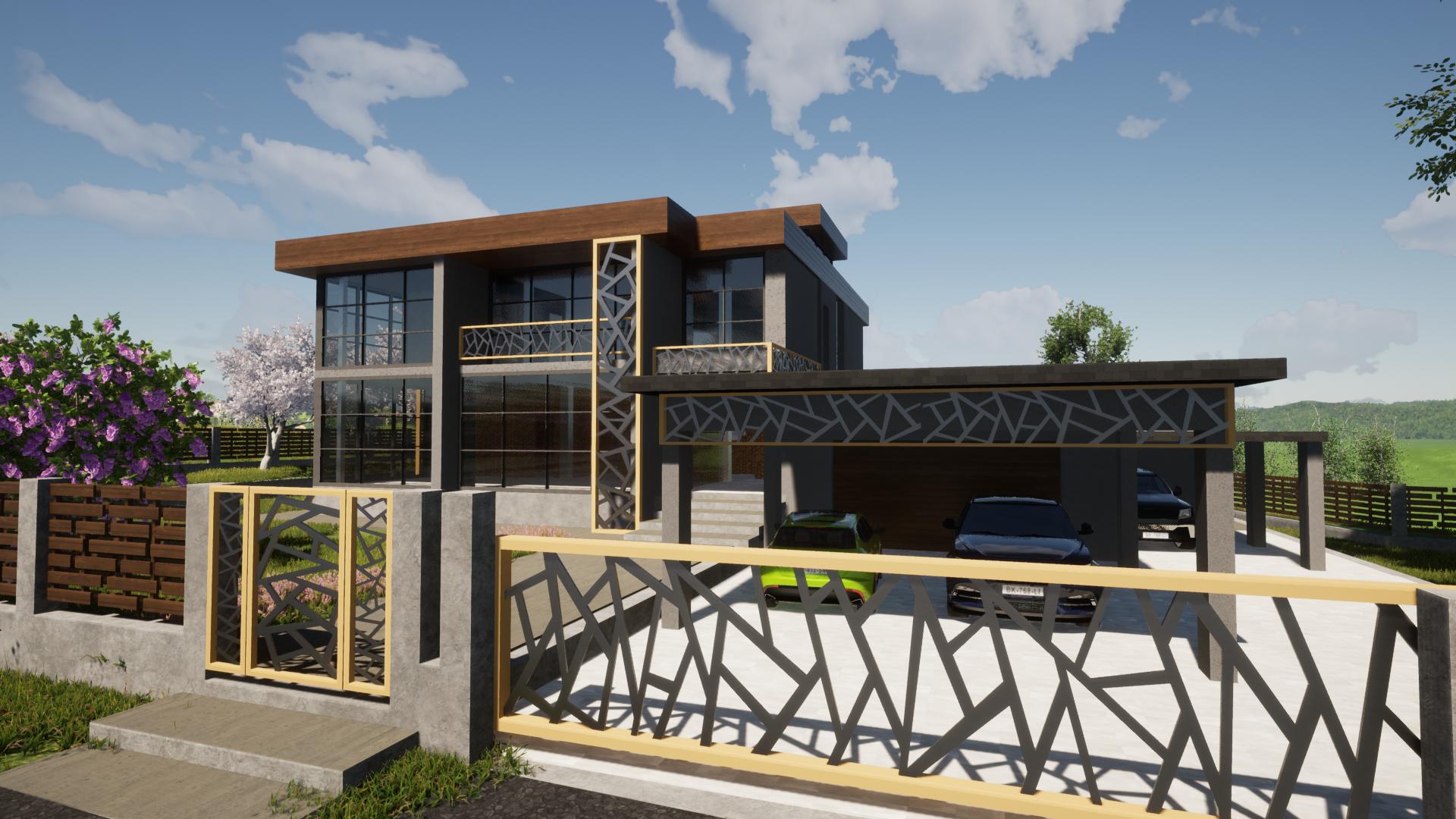 Дом в современном стиле фасад