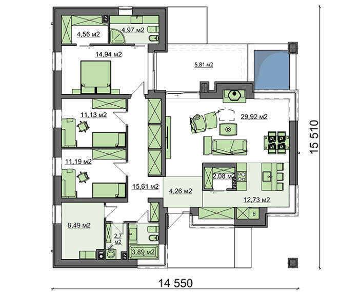 Проект дома 4m759 план