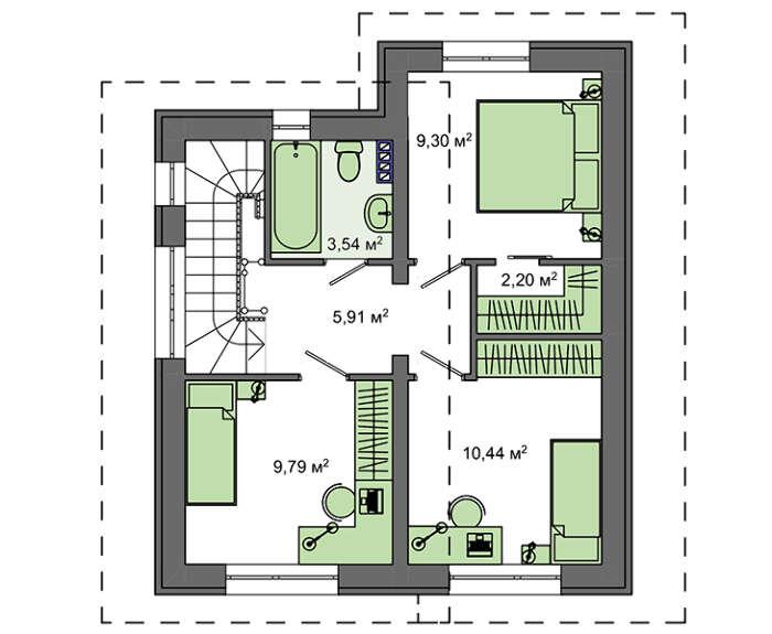 Проект дома 4m5104 план