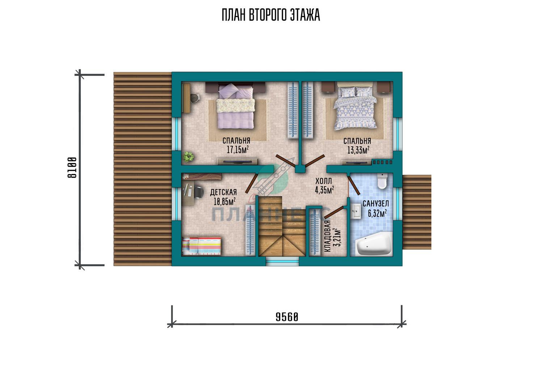Проект дома Планнерс 095-124-1М план