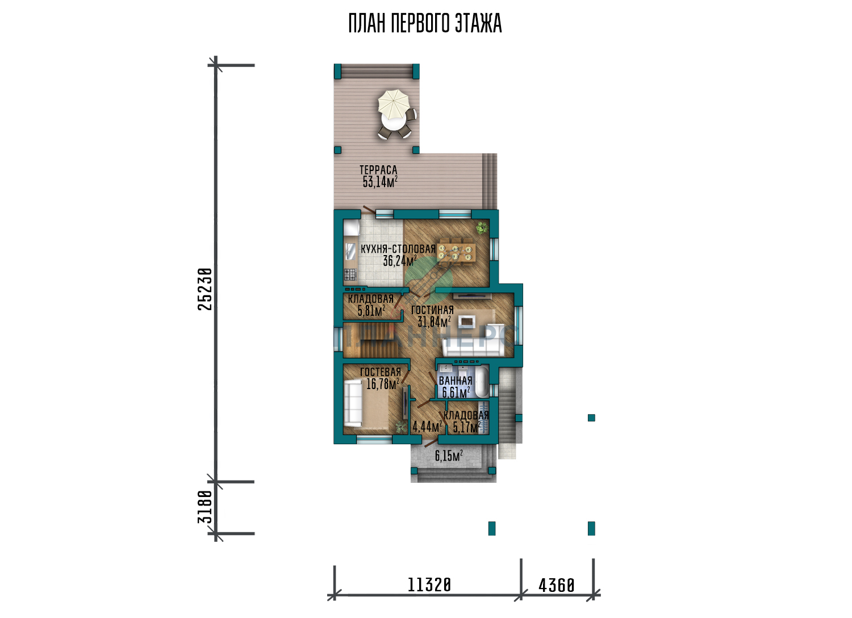Проект дома Планнерс 109-350-2ГП план