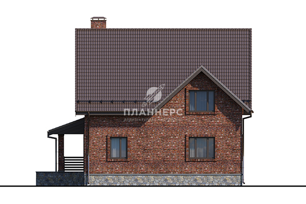 Проект дома Пленнерс 098-178-1М фасад
