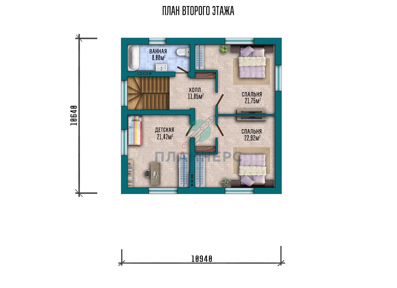 Проект дома Пленнерс 098-178-1М план