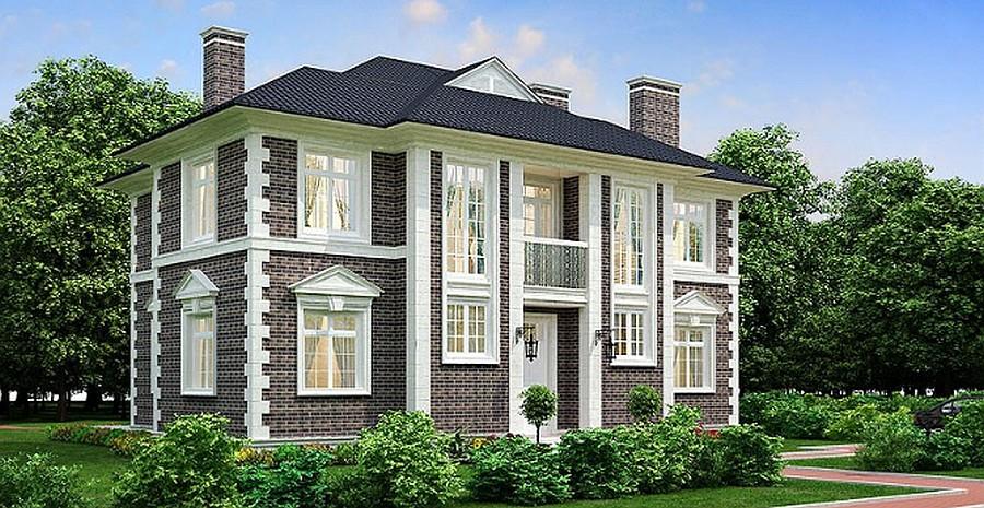 Проект дома 263 кв.м // Артикул Е-55 фасад