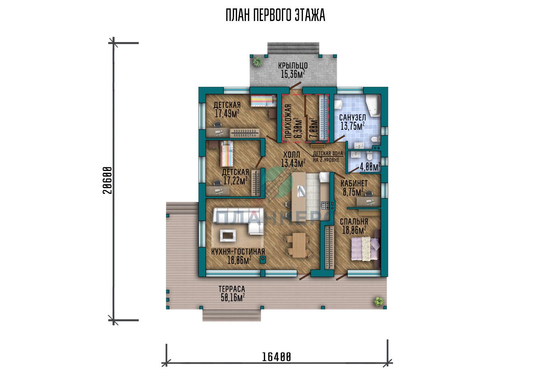 Проект дома Планнерс 122-228-1 план
