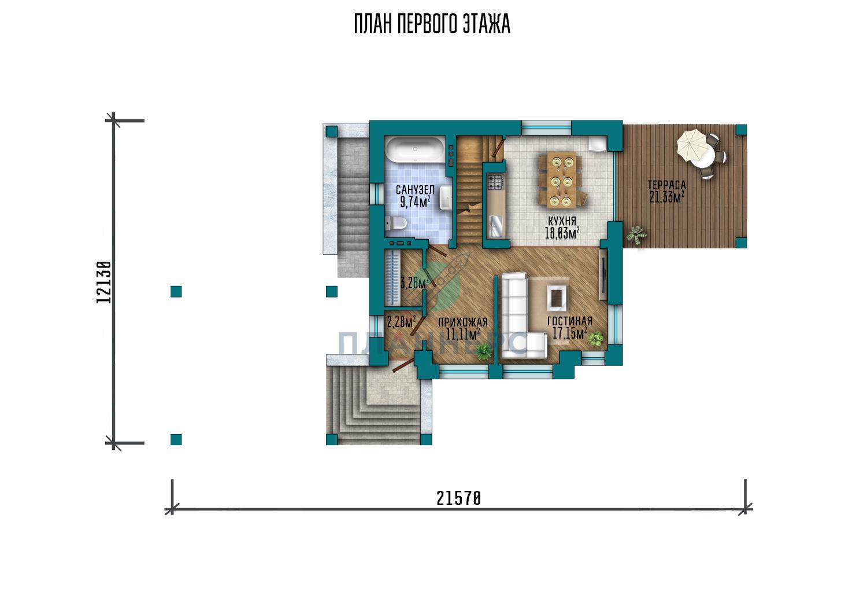 Проект дома Планнерс 123-188-1МПГ план