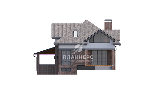 Проект дома Планнерс 123-188-1МПГ фасад