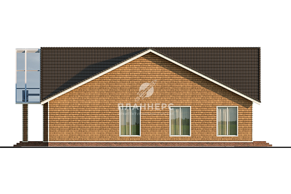 Проект дома Планнерс 125-974-1МГ фасад