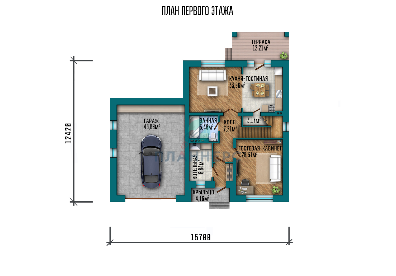 Проект дома Планнерс 094-216-2Г план