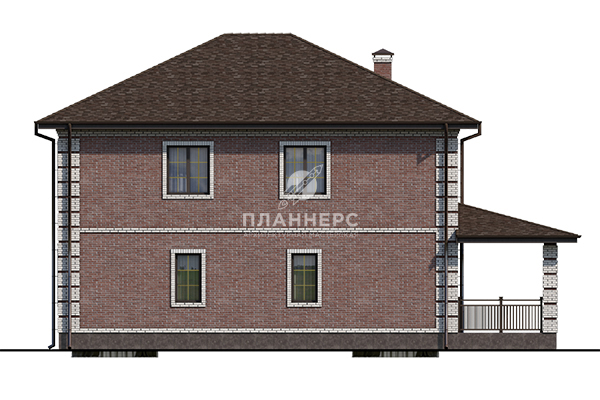Проект дома Планнерс 106-188-2  фасад