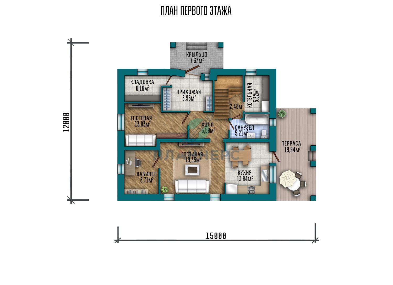 Проект дома Планнерс 106-188-2  план
